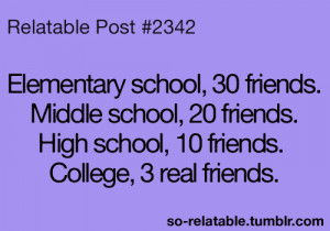 friends college Friendship high school life quotes teen quotes ...