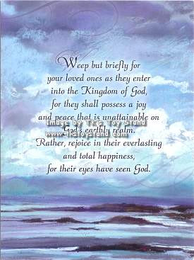 ... the Kingdom Of God, For They Shall Posses A Joy… ~ Sympathy Quote