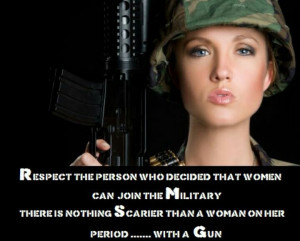 Female soldiers...