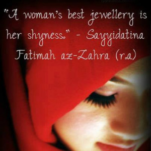 Best jewelry of women is shyness
