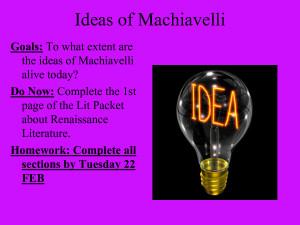 Machiavelli Quotes On Power Ideas of machiavelli goals: to