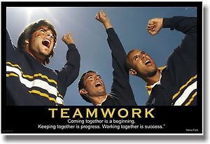 ... -Motivational-TEAMWORK-POSTER-Henry-Ford-Quote-Sports-Fan-Cheer-Team