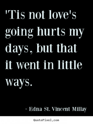 Create custom picture quotes about love - 'tis not love's going hurts ...