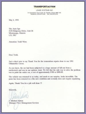 Sample Job Well Done Thank You Letters - Cover Letter for You