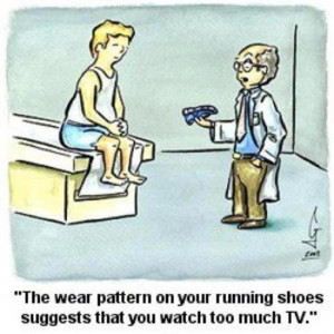 Funny Running Posts [21-40]:Wear Pattern On Shoes