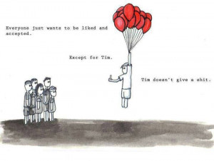 tim doesn't give a shit