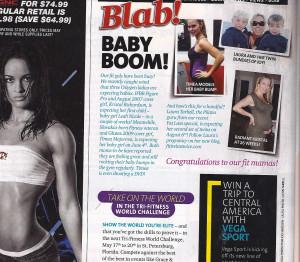 Oxygen Magazine's 'Baby Boom' Feature