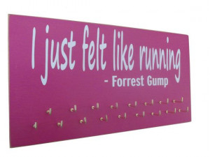 Medals display rack - Forrest Gump running quote on medals display ...