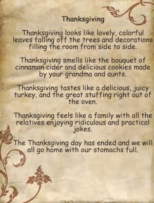 Free Short Thanksgiving Poems For Church