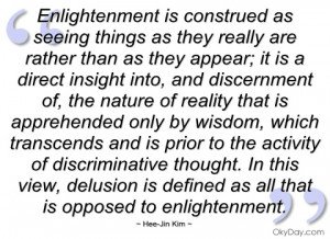 enlightenment is construed as seeing
