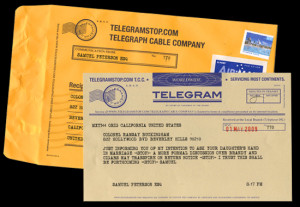 ... telegram? Of course not! People say love letters are old-fashioned