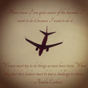 Flying Quote - Amelia Earhart