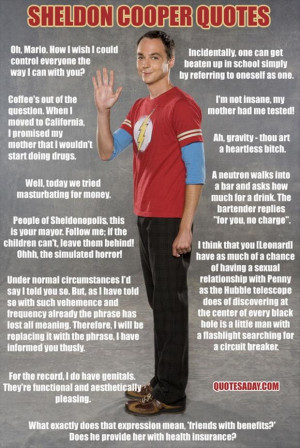 sheldon cooper quotes, funny quotes, the big bang theory