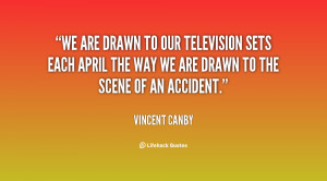 We are drawn to our television sets each April the way we are drawn to ...
