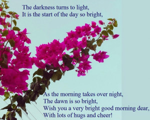 Cute good morning poems for her!