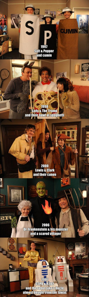 Marshall, Lily and Ted Halloween costumes - How I Met Your Mother. # ...