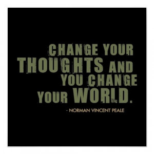 Norman Vincent Peale Quote Poster $22.20
