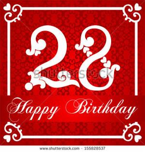 Happy 28th Birthday Cards Happy birthday card with