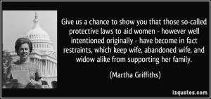 you that those so-called protective laws to aid women - however well ...