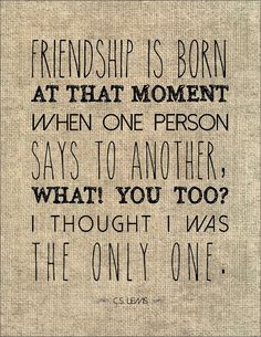 Friendship typography literary quote friends gift for best friend ...