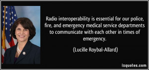 is essential for our police, fire, and emergency medical service ...