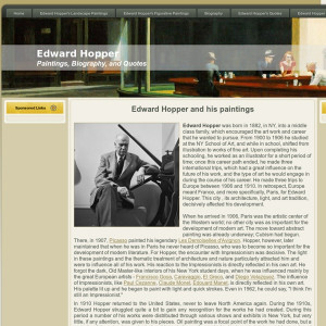 Edward Hopper - paintings, biography, quotes of Edward Hopper