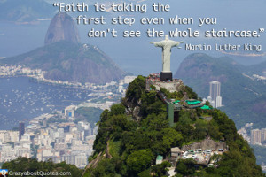 ... out over Rio de Janeiro with Martin Luther King quote of the day