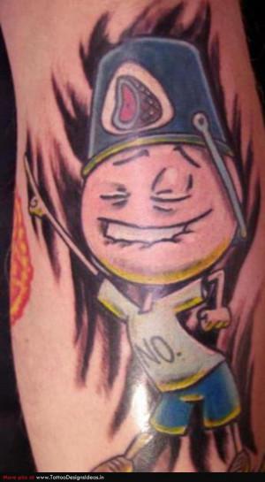 Tattoo quotes cartoons quotesgram for Funny cartoon tattoos