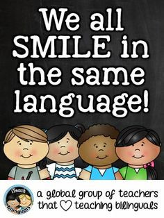 smile is a smile, all across the world. a laugh is a laugh, all ...