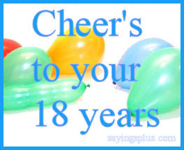 18th Birthday Quotes, Sayings and Greetings