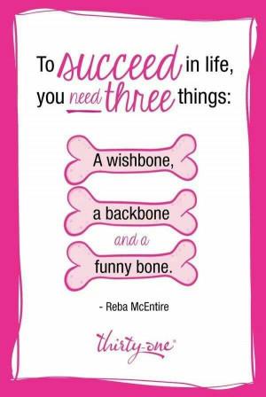 Love Reba. Great quote!
