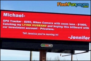... : cheating husband , funny billboards , funny pictures , funny signs
