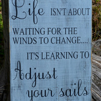 ... Wood Sign Rustic Beach Sign Inspirational Quote Primitive Rustic Gray