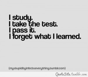 Study, take the test, pass and forget :)