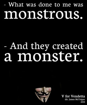 ... monstrous evey hammond and they created a monster v for vendetta 2006