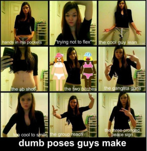 ... boys make poses while clicking pictures, girls v/s boys, dumb boys