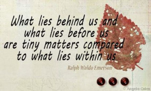 What Lies Within Me.