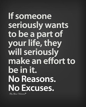 No Reasons...No Excuses