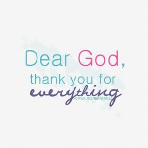 ... you's most especially our thank you's for everything god had given us