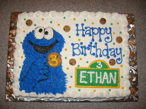 Cookie Monster Birthday Cakes