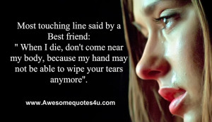 Most Touching Heart Quotes Lines Said Best Friend