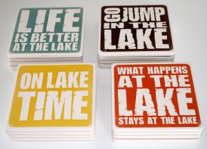 Home LAKE GIFTS Lake Saying Coasters