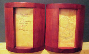 Hallmark Maya Angelou Life Mosaic Series Bookends Red Mahogany 2001 ...