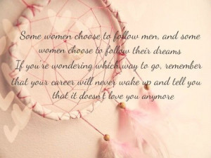 Pink Dream catcher quote