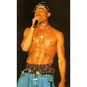 Tupac Shakur Cross Tattoo