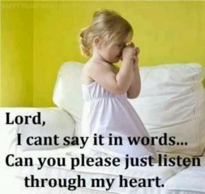 Unspoken prayer