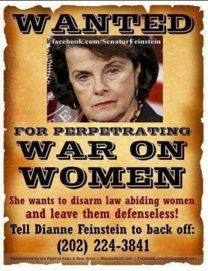 dianne feinstein wanted poster