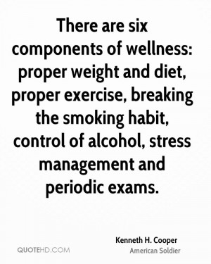 Kenneth H. Cooper Diet Quotes