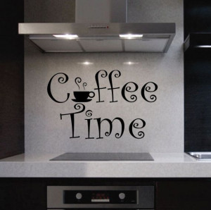 Vinyl Wall Lettering Quotes Decals Kitchen Coffee by WallsThatTalk, $ ...