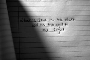 dark, light, quote - inspiring picture on Favim.com